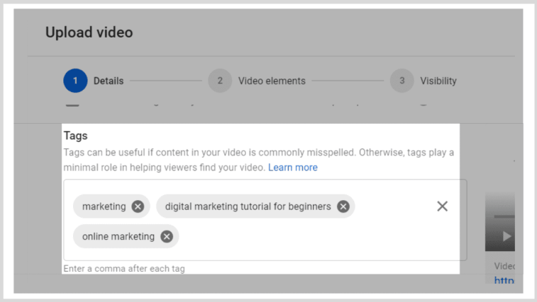Adding tags to videos.