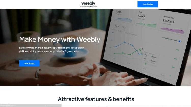Website builder affiliate programs: weebly