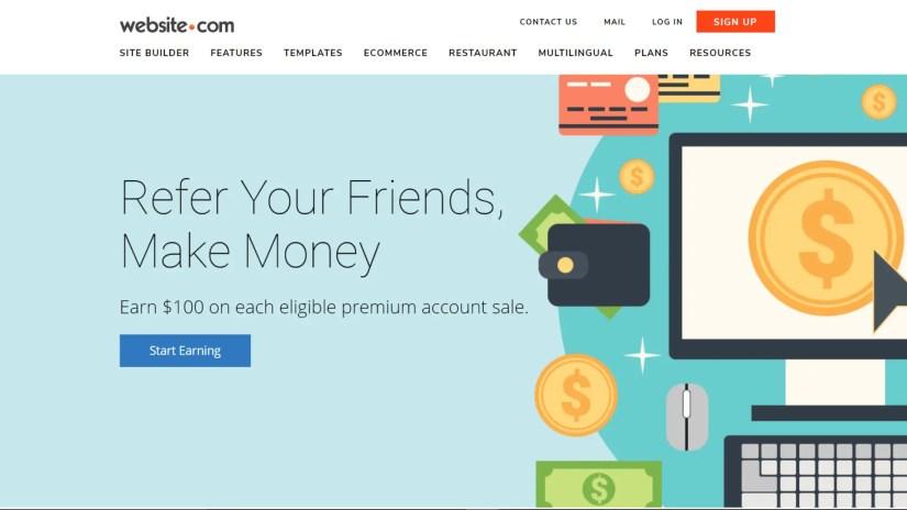 Website builder affiliate programs: Website.com