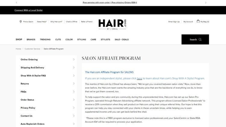 Hair Care Affiliate Programs