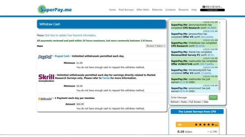 superpay.me reviews: survey website scam?
