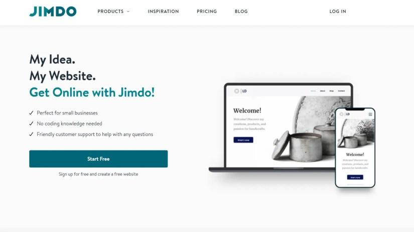 Weebly alternatives: Jimdo