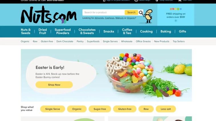 Nuts.com affiliate program for food bloggers