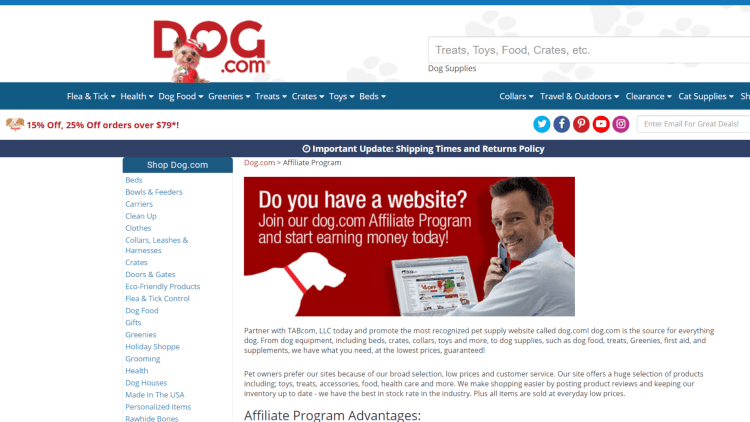 Top dog affiliate programs