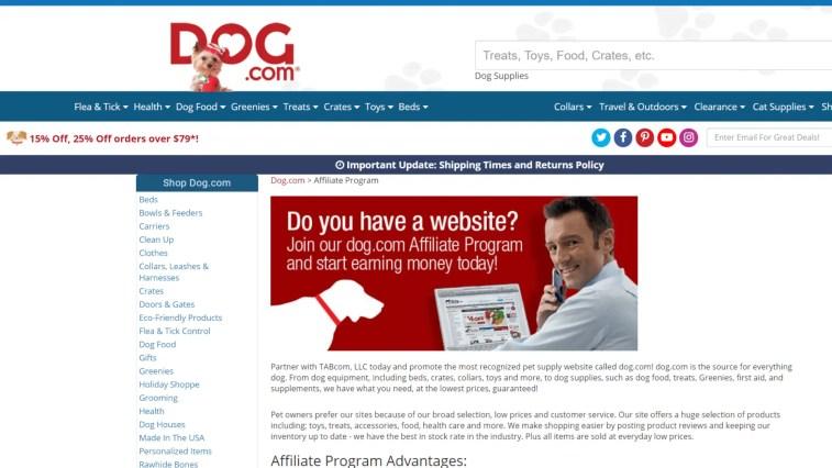 Top dog affiliate programs