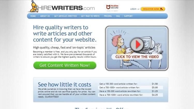 Hire Writers - iWriter alternative