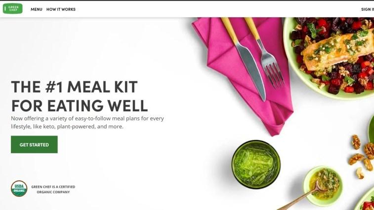 best organic food affiliate programs: Green Chef