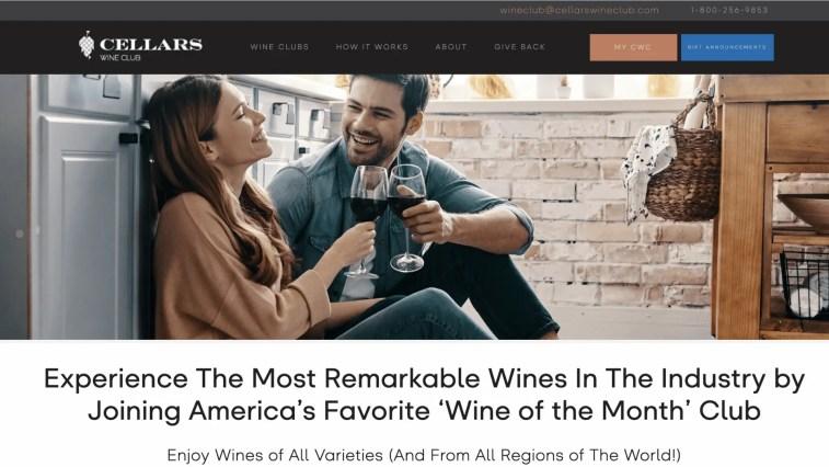 Best alcohol affiliate programs: Cellars Wine Club