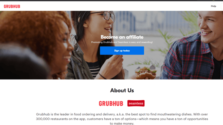 Grubhub affiliate program