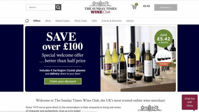 The Sunday Times Wine Club Affiliate Program
