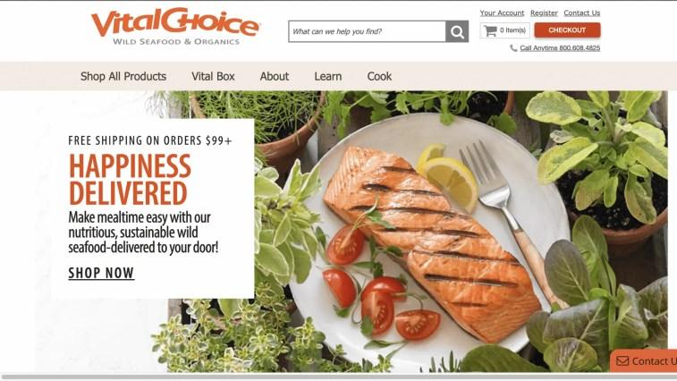 Vital Choice Affiliate Program (gourmet food)