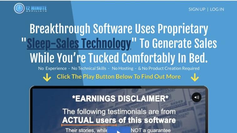 12 Minute Affiliate System: alternative to Legendary Marketer