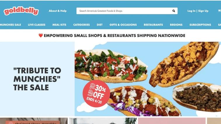 Gourmet Food affiliate programs: Goldbelly