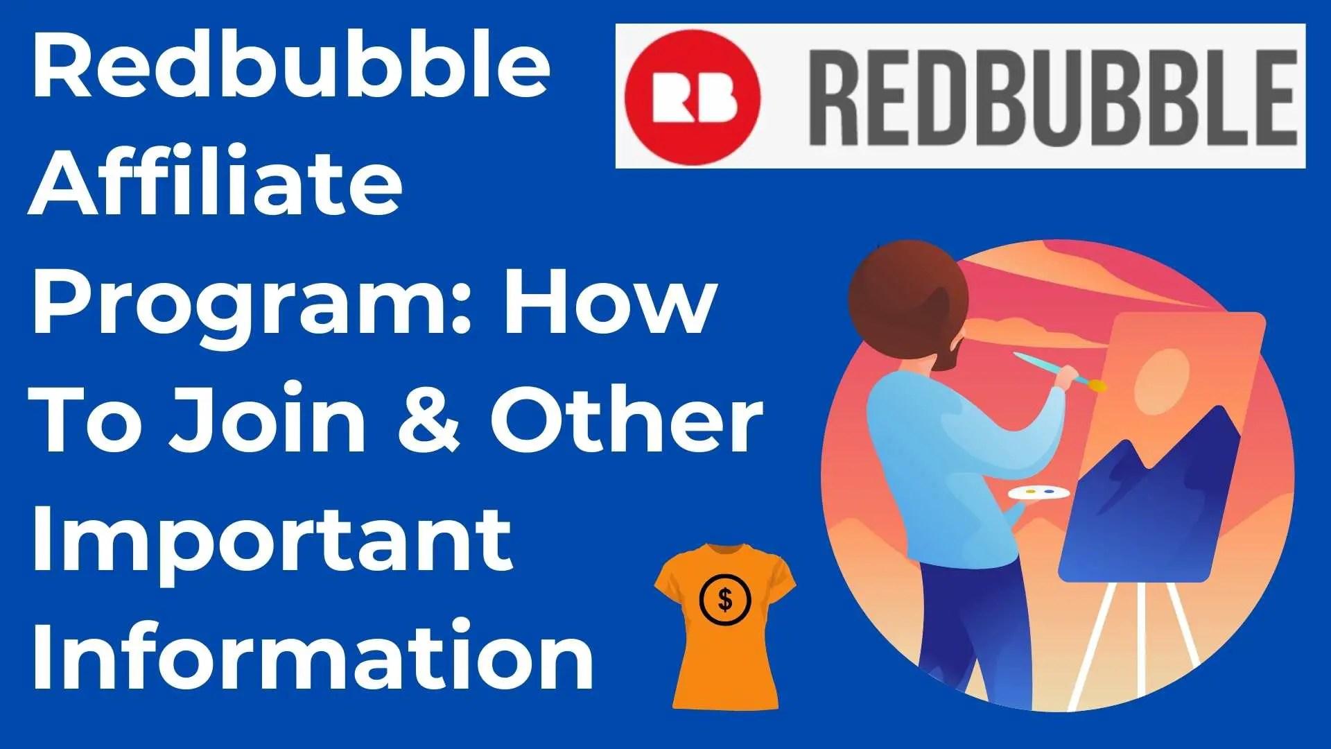 Redbubble affiliate program