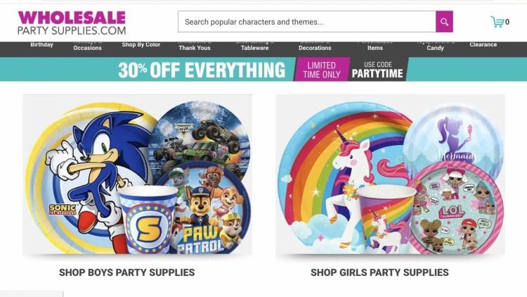 Best Wholesale Affiliate Programs: Wholesale Party Supplies