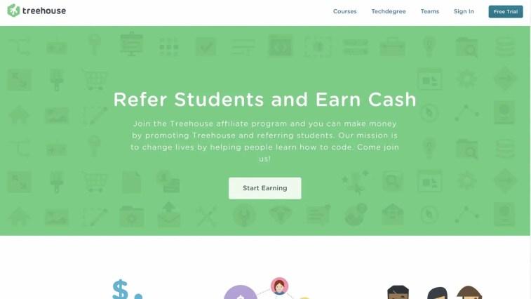Treehouse affiliate program review
