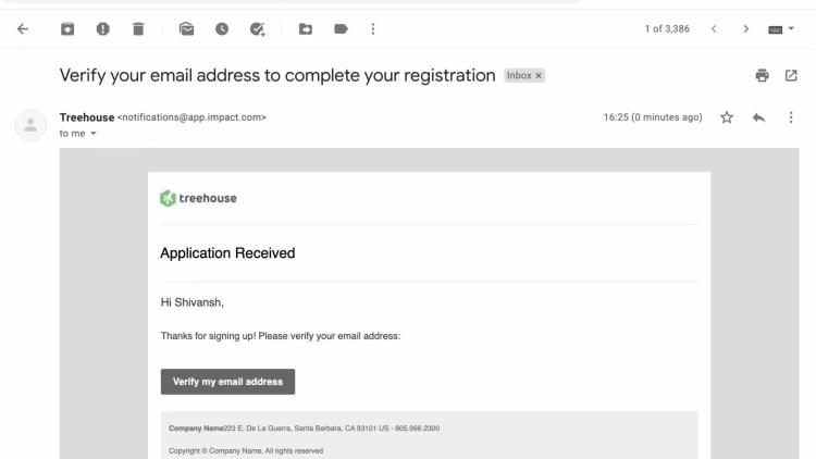 Treehouse affiliate program signup