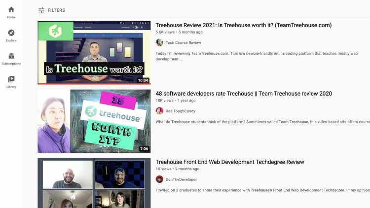 Promoting Treehouse with YouTube as an affilaite