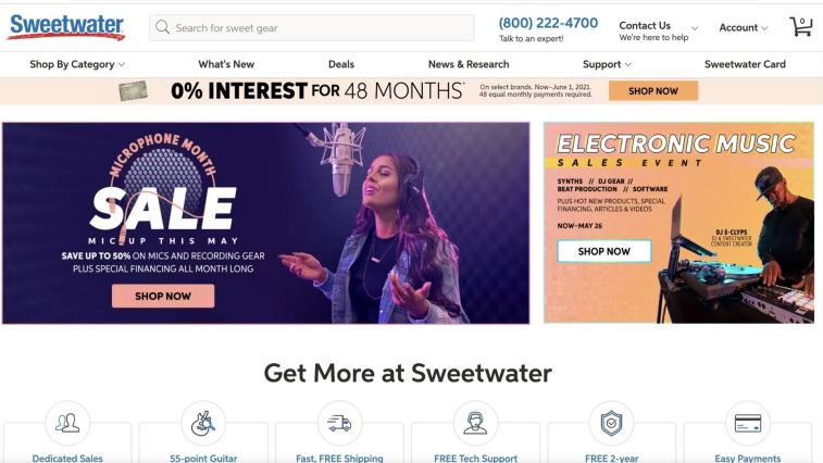 affiliate program of Sweetwater (music)