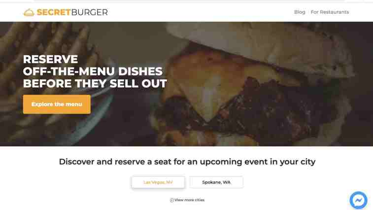 Secret Burger affiliate program: fast food affiliate program
