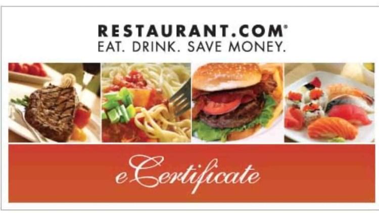 Restaurant.com affiliate