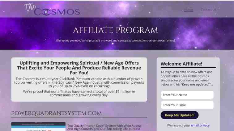 Cosmos with Love affiliate program