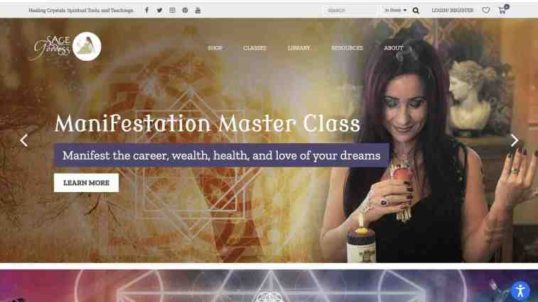 metaphysical affiliate program: Sage Goddess affiliate program