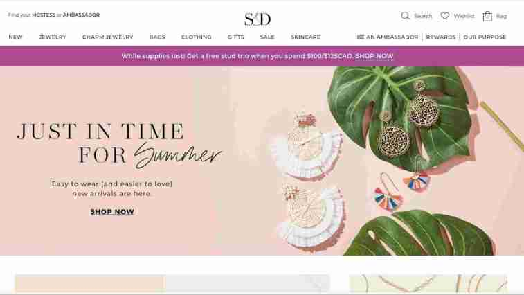 Stella & Dot affiliate program for jewelry