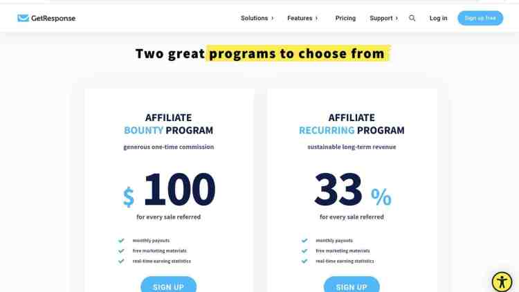 GetResponse affiliate for network marketers