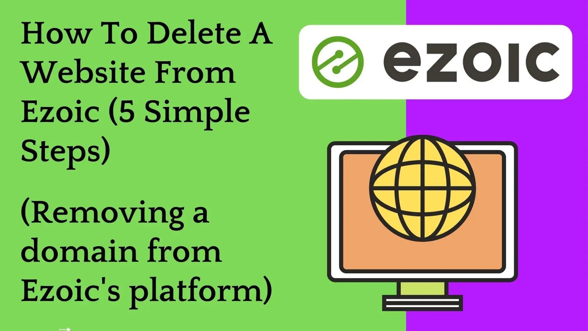 delete ezoic account