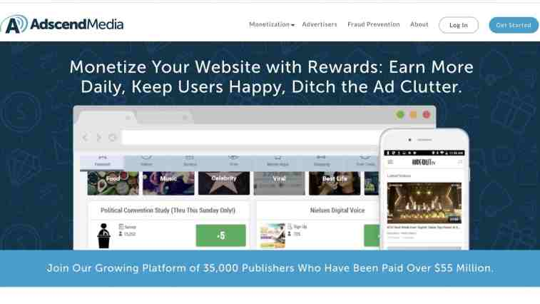 AdscendMedia affiliate network for PPD and CPI offers
