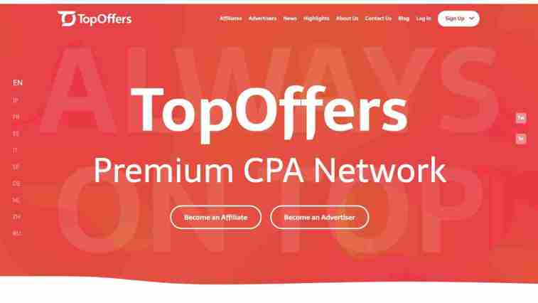 TopOffers Affiliate Program
