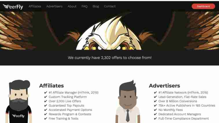 peerfly affiliate program two tiered