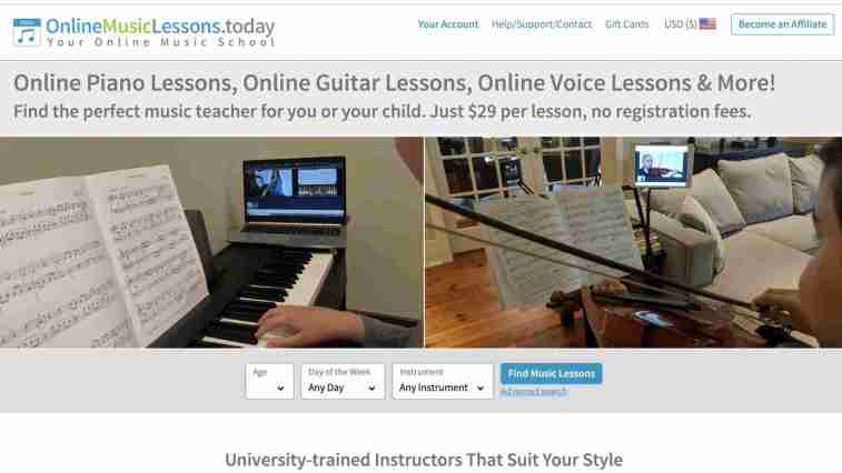 Online Music Lessons Today Affiliate Program