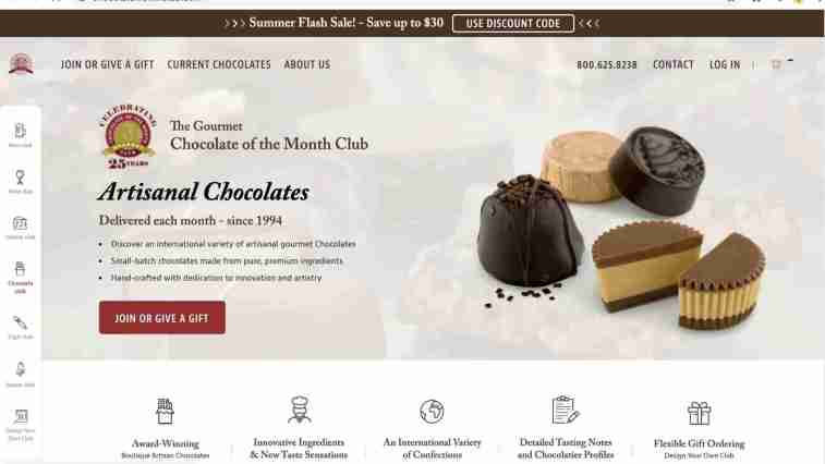 Gourmet chocolate of the month club affiliate