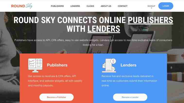 round sky personal loans affiliate program