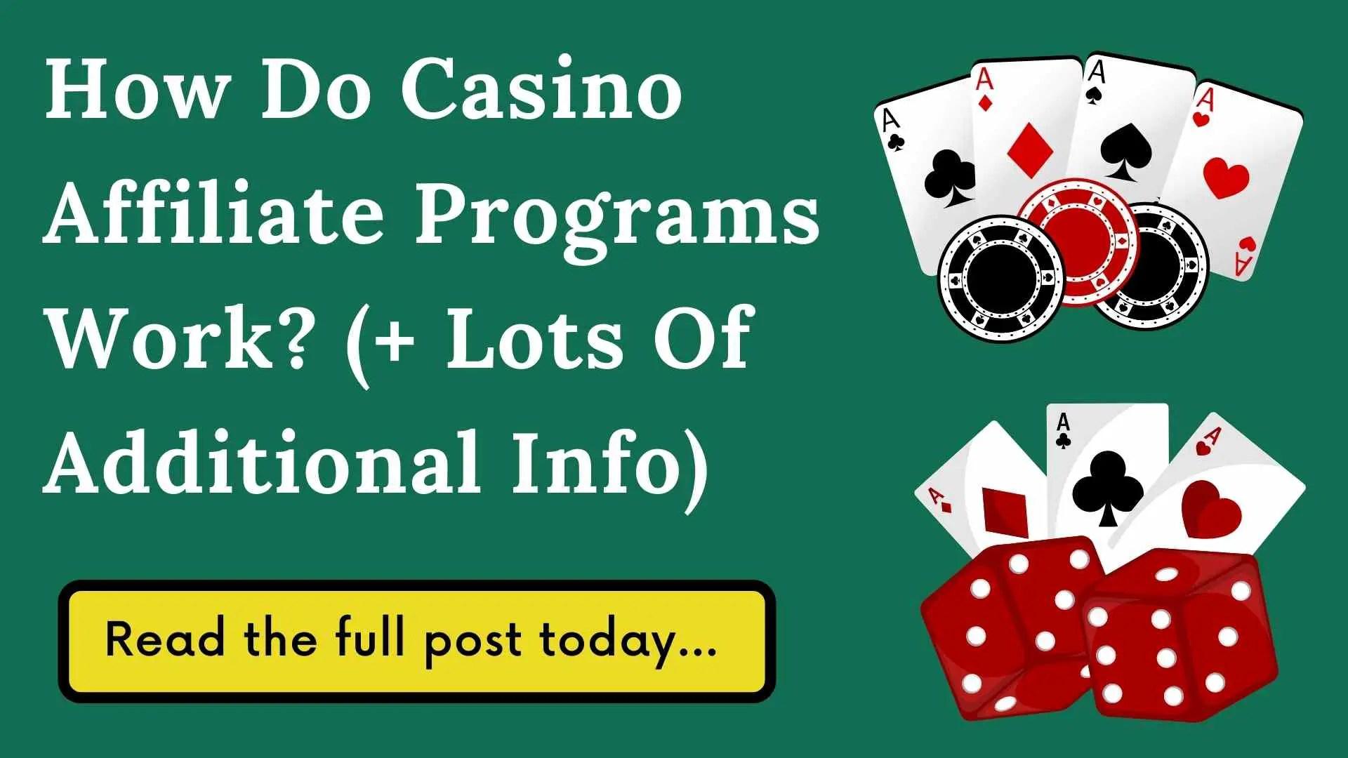 how do casino affiliate programs work