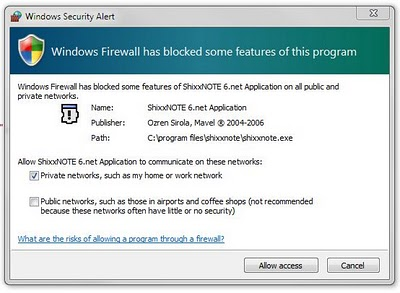 ShixxNOTE 6.net on Windows 7 (5/5)