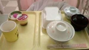 初日の入院食|岐阜県K市医師会病院