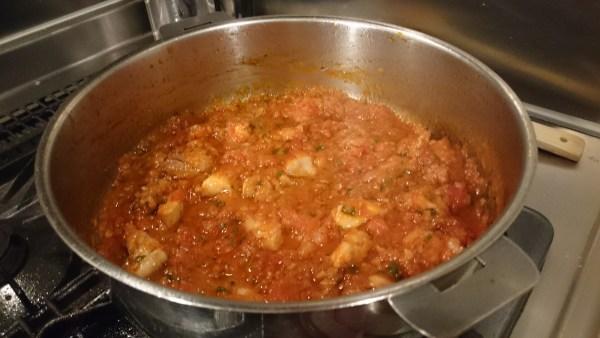 鶏肉のトマトパスタ制作過程