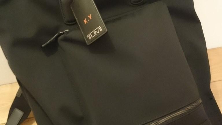 TUMIのバックパックを購入した