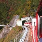 大井川鐵道井川線・日本一の急勾配(90‰)