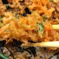 三久ランチ「桜えびのかき揚げと茶そば 」静岡駅で郷土料理