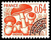 timbres-gastronomie-champignons-oronge