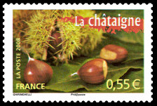 TIMBRES-GASTRONOMIE-CHATAIGNE-b