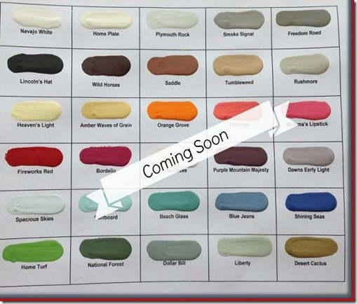 Coming Soon color charts