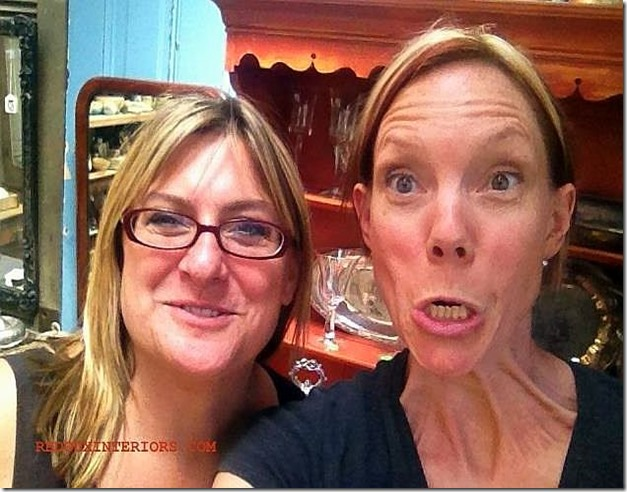 Shelly and Karen acting goofy