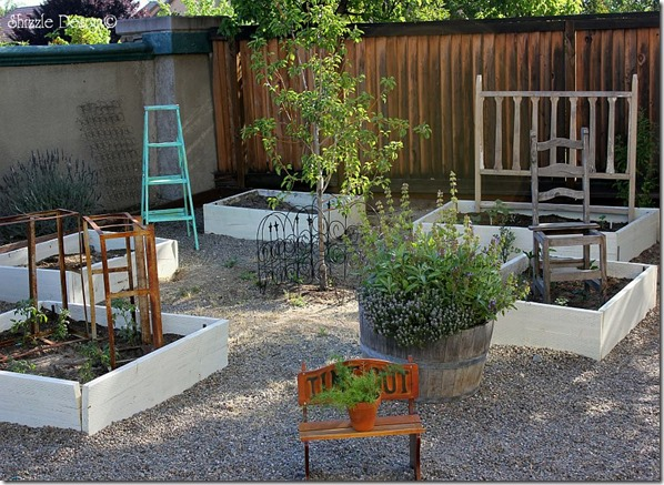 how to decorate your garden with up-cycled junk