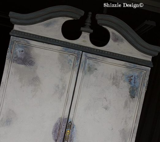 French Country Armoire Shizzle Design, ideas, furniture, chalk, clay, American Paint Company, Michigan experimenting wet distress 3