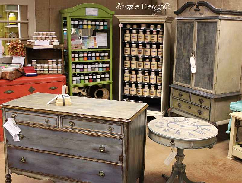 Shizzle Design Booth Hand Painted Furniture Chalk Clay Paint Ideas Colors  CeCe Caldwellu0027s American Paint Company